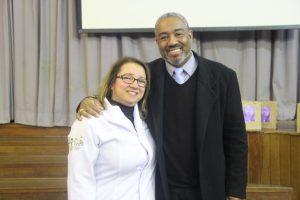 A Coordenadora do Laboratório, Mouseline Torquato, e o Presidente da FEPE,  Alexandro Luiz Barbosa