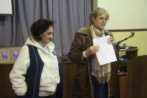 A diretora da Escola Ecumênica Dinéia Urbanek e a Vice-Diretora Heloane Sozzi