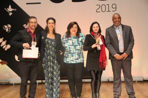 Momento da entrega do prêmio SESI ODS - 2019
